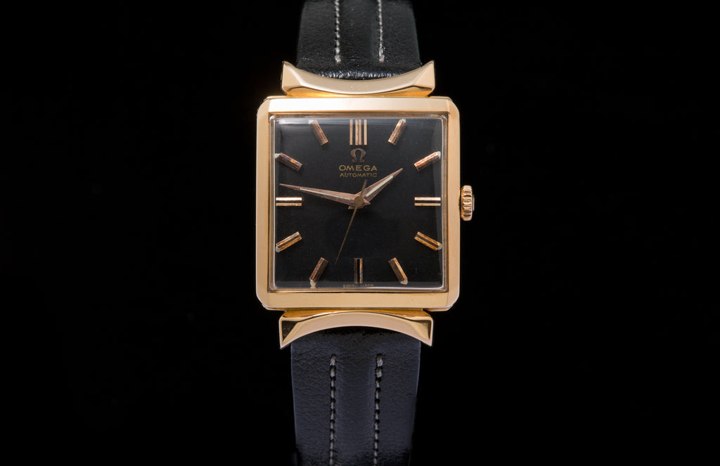 Omega 18ct Rose Gold Vintage Dress Watch Sold The Watch Collector