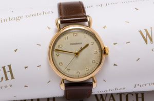 Jaeger Le coultre gents gold dress watch from 1949
