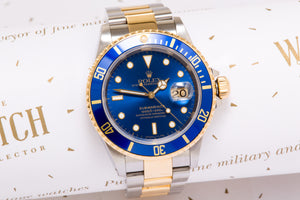 Rolex Submariner Steel and 18 ct Gold