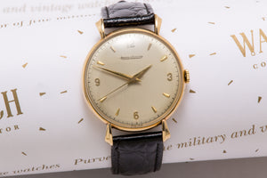 vintage Jaeger Le Coultre solid gold gents dress watch