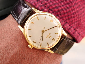 Omega 9 ct gold gents dress watch
