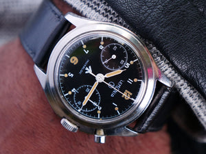 Lemania single pusher RAF issued chronograph.