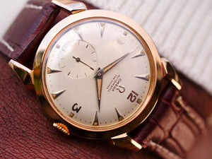 Omega 18ct Rose gold gents dress watch