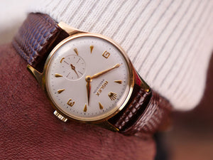 Rolex precision 9ct gold