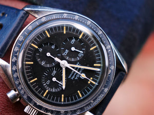 "Omega Speedmaster professional, Rare Faded Blue ""220""Bezel"