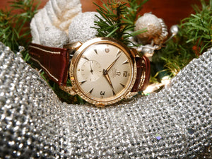Omega 18ct Rose gold vintage dress watch
