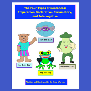 Four types of Sentences Declarative, Imperative, Exclamatory offers a unique, fun and creative explanation for the four types of sentences. Hand drawn, cartoon characters offer a comic-book-like explanation for imperative sentences, declarative sentences, exclamatory sentences and interrogative sentences.
