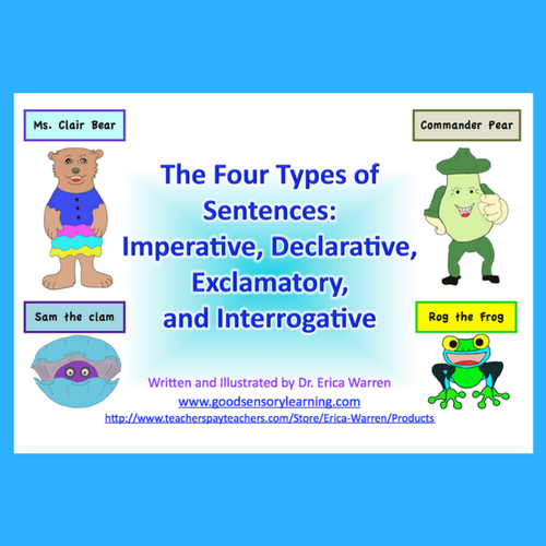 Four Types of Sentences PowerPoint Instruction offers a novel and creative explanation for the 4 types of sentences.