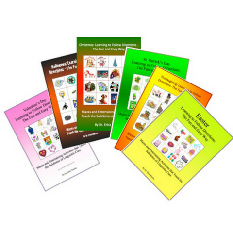 This holiday bundle develops language skills, listening skills, attention to detail, mental flexibility, tricky vocabulary, and more - all while having fun.