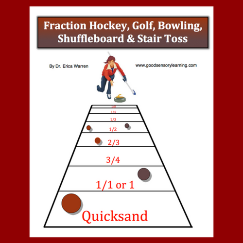 Fraction Games Hockey, Golf, Bowling, Shuffleboard & Stair Toss is a set of fun fraction games.
