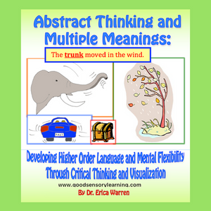 This 58-page workbook, which is available as a PDF digital download, offers an innovative and multisensory approach to learning higher-level language and reasoning.