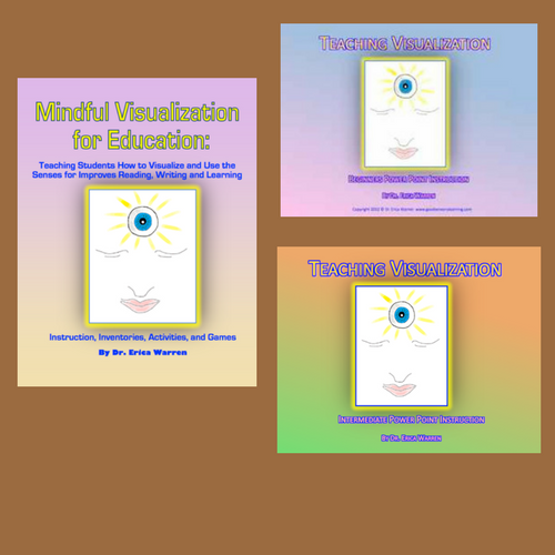 This discounted Teaching Visualization bundle offers two PowerPoint presentations that teach the 10 visualization skills as well as a book that features the research and many games to exercise this skill.