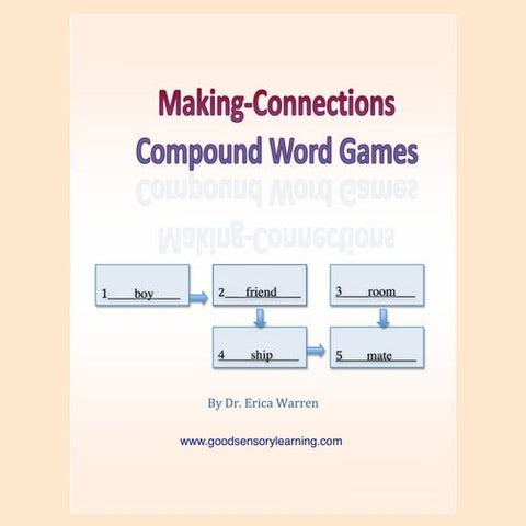 Compound Words Games brain teasing workbook helps students develop an understanding of compound words.