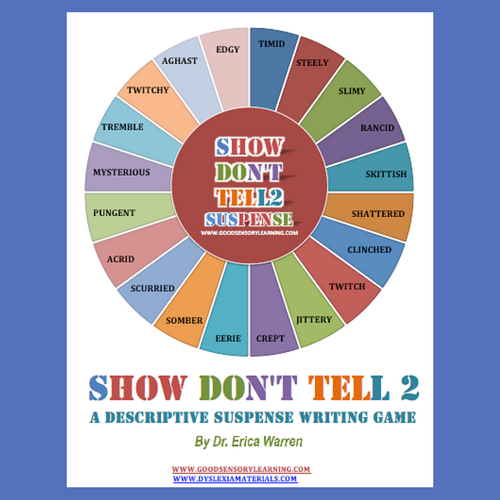 Show Don't Tell 2: A Descriptive Suspense Writing Game is a wonderful way to help students have fun while mastering this type of writing.