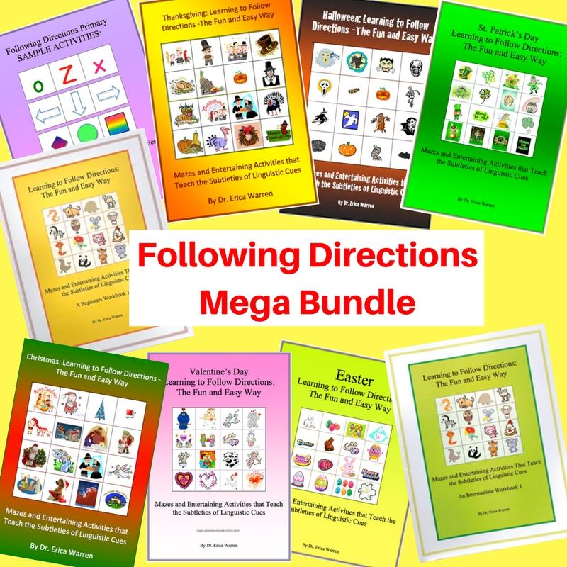 The Following Directions Mega Bundle includes all of Dr. Warren's following directions activities at a discounted price.
