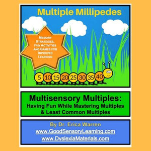 Multiples and LCM Made Easy with Millipedes Digital Download is a fun, memorable and multisensory approach to teaching multiples in math.