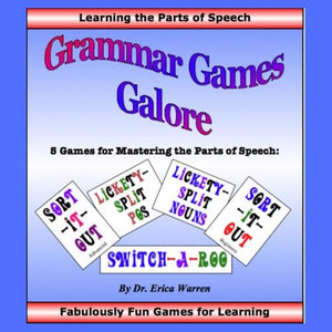 Grammar Games Galore offers five, new games that will help entice students to learn the different parts of speech.