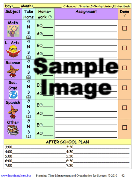 Planning Time Management and Organization for Success Download sample