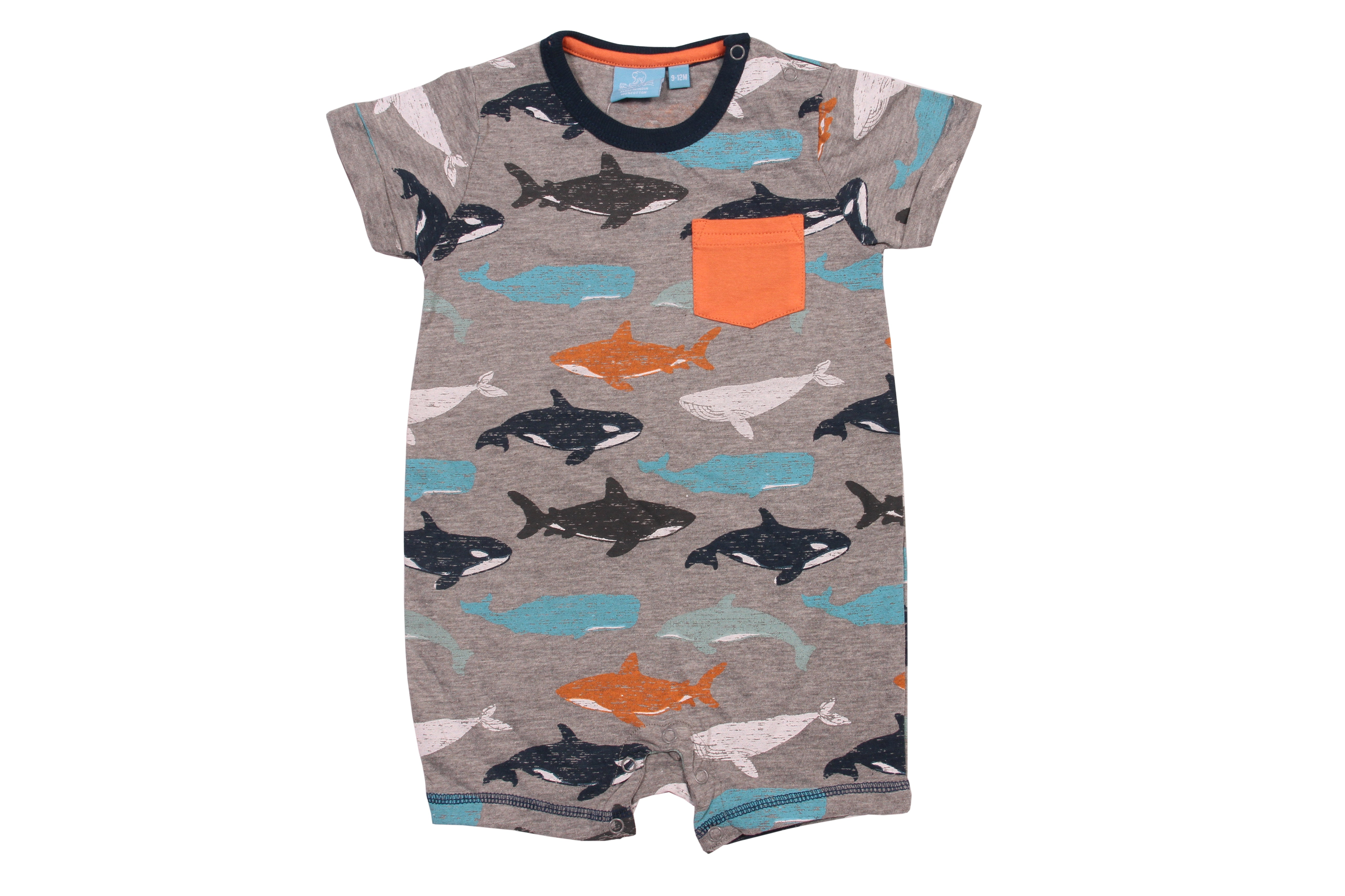 Clayton Whale Romper Baby