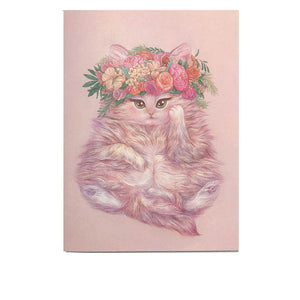Greeting Card: Floral Crown Kitty