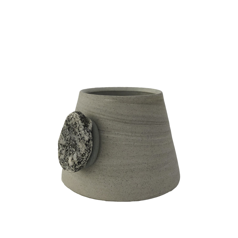 Mountain Cup: Grey Marble & Stone Knob