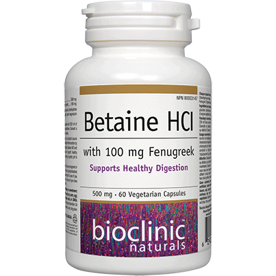 Betaine HCI 500mg - 60 vcaps