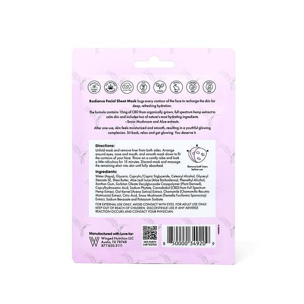 Radiance Facial Sheet Mask 15MG