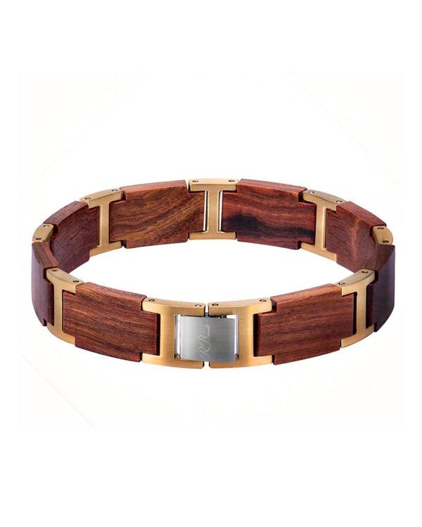 Gold & Red Sandalwood Bracelet - R. Burnett Brand