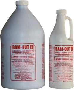 RAM-OUT 4 - RTU | Concentrated Liquid Organic Digester and Drain line Clearer - K&K