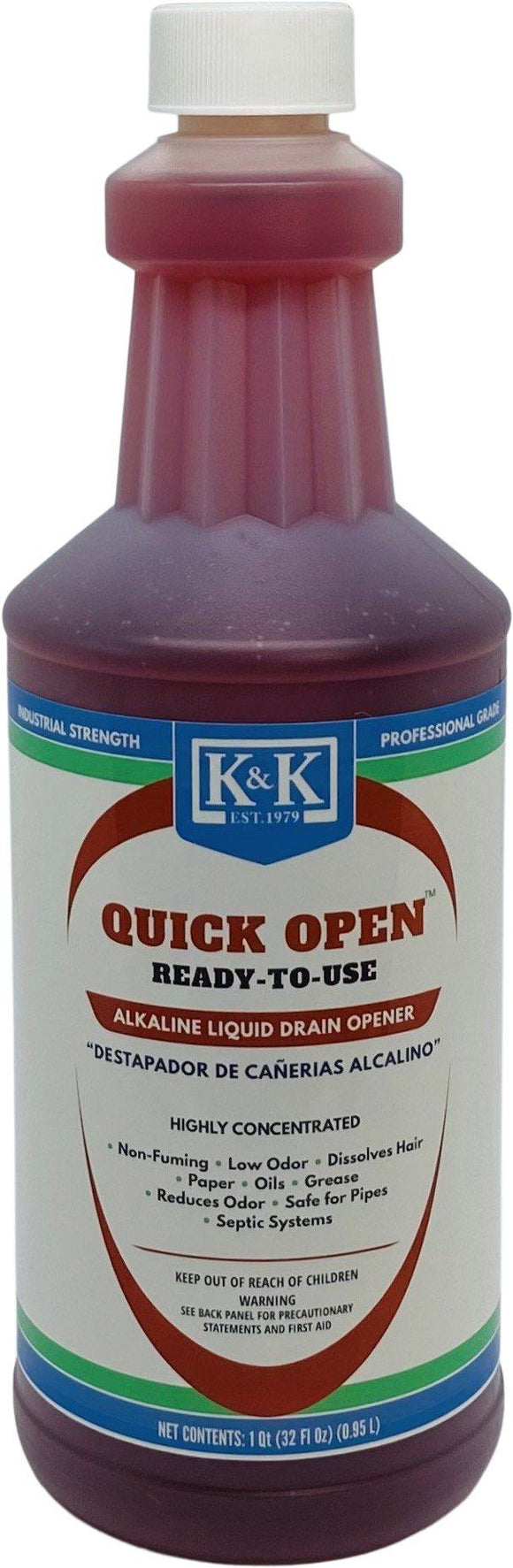 QUICK OPEN - RTU | Concentrated Alkaline Liquid Drain Opener and Maintainer