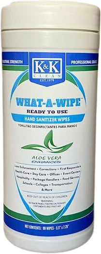WHAT-A-WIPE | Hand Sanitizer Wipe with Aloe Vera