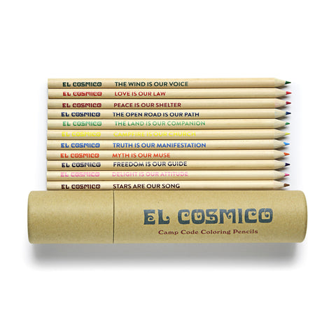 El Cosmico Camp Code Colored Pencils