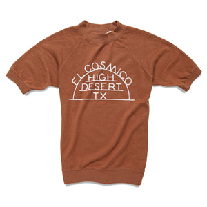Open image in slideshow, High Desert TX x Jungmaven Short Sleeve Sweatshirt - Terracotta