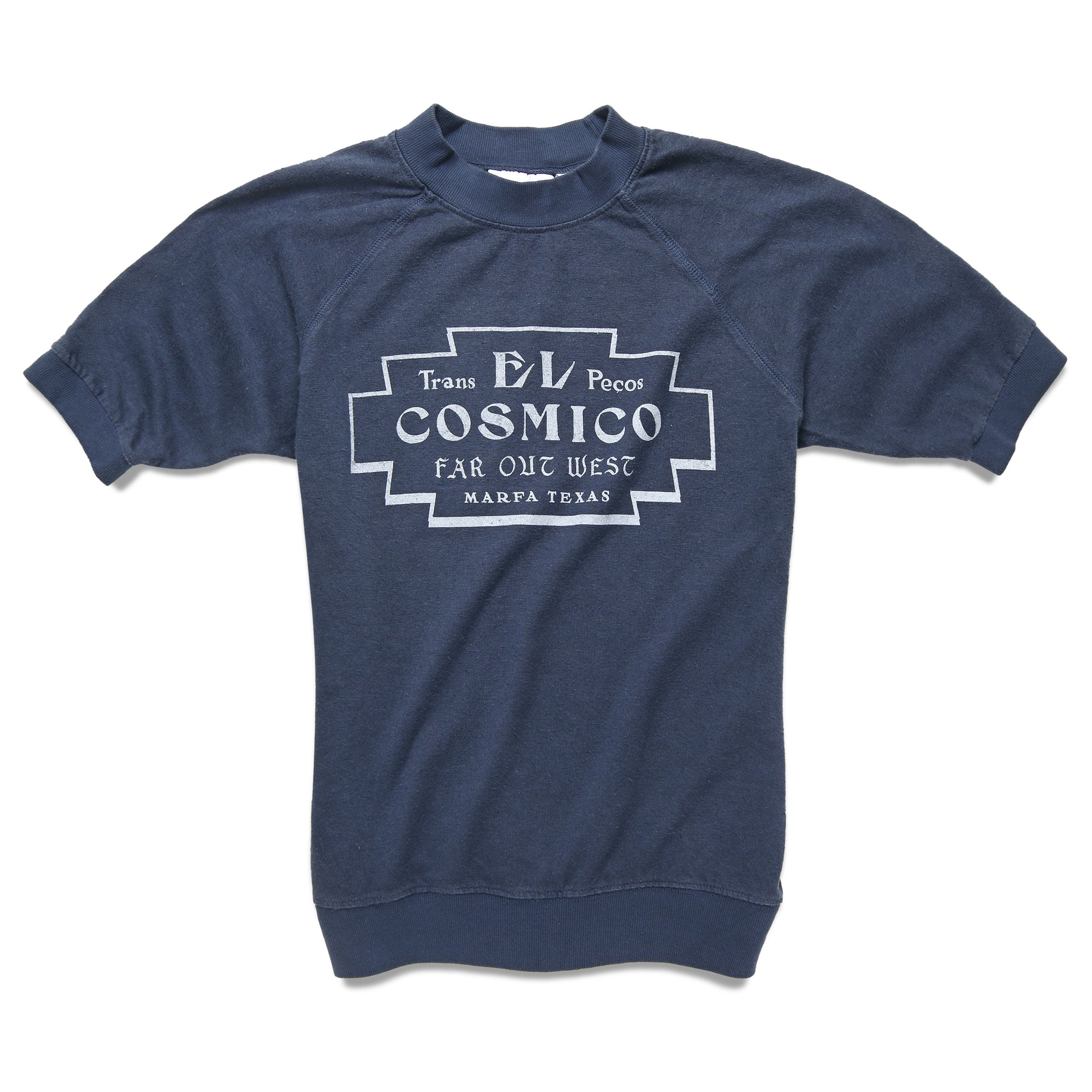 Far Out West x Jungmaven Short Sleeve Sweatshirt - Navy