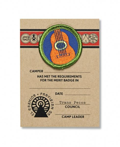 Acoustic Guitar Merit Badge - El Cosmico Provision Company