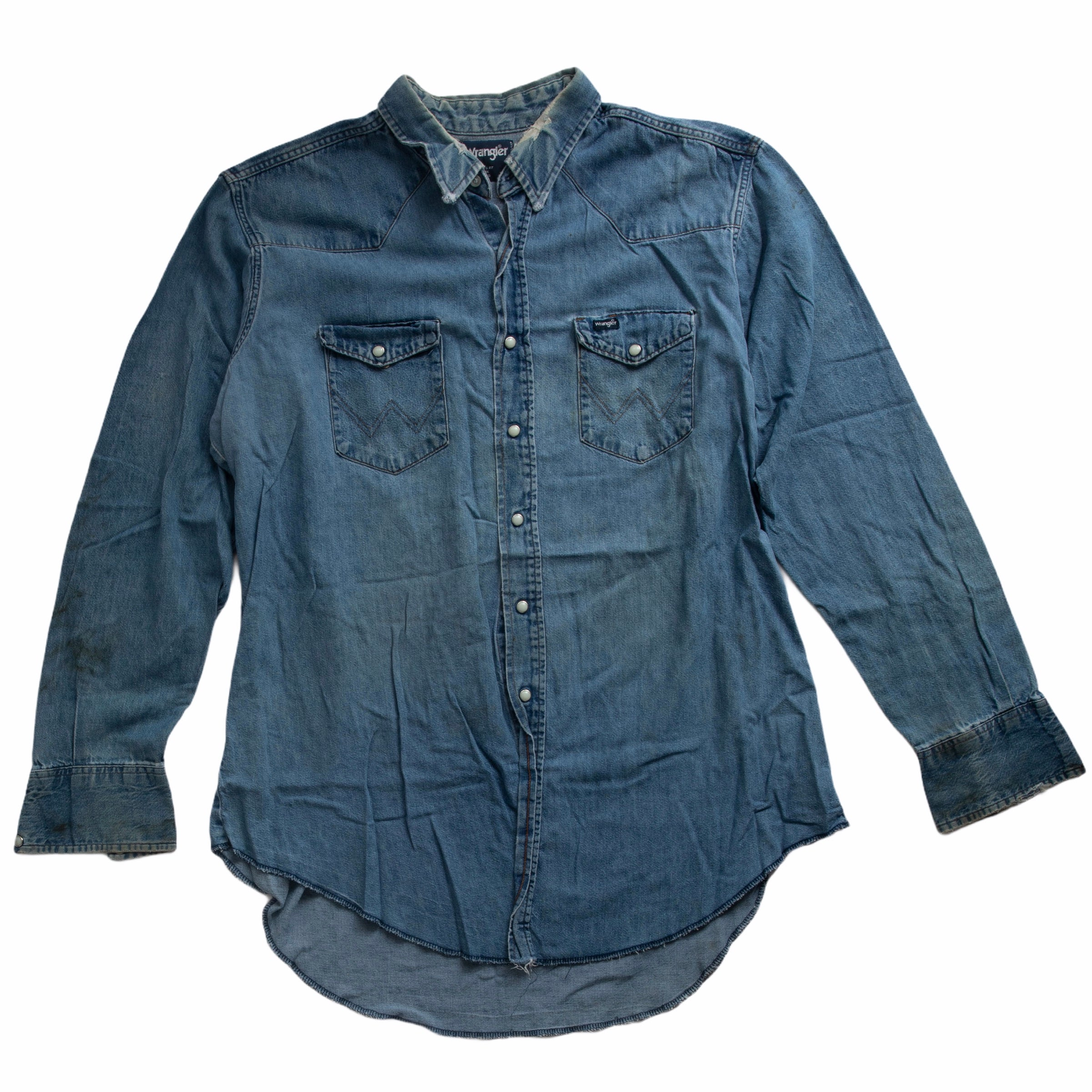 Vintage Wrangler Pearl Snap Denim Shirt 03 - XL / Tall