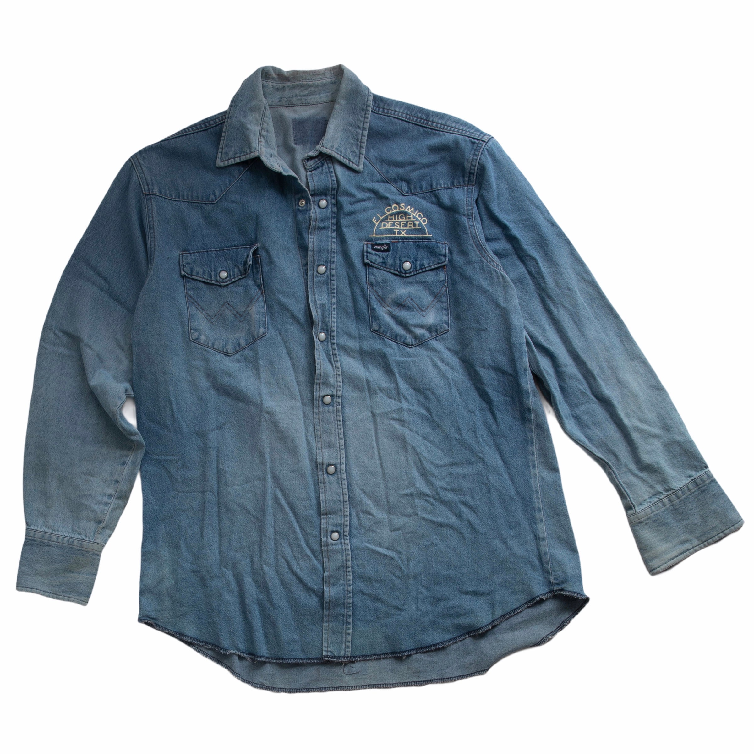 Vintage Wrangler Pearl Snap Denim Shirt 04 - Large