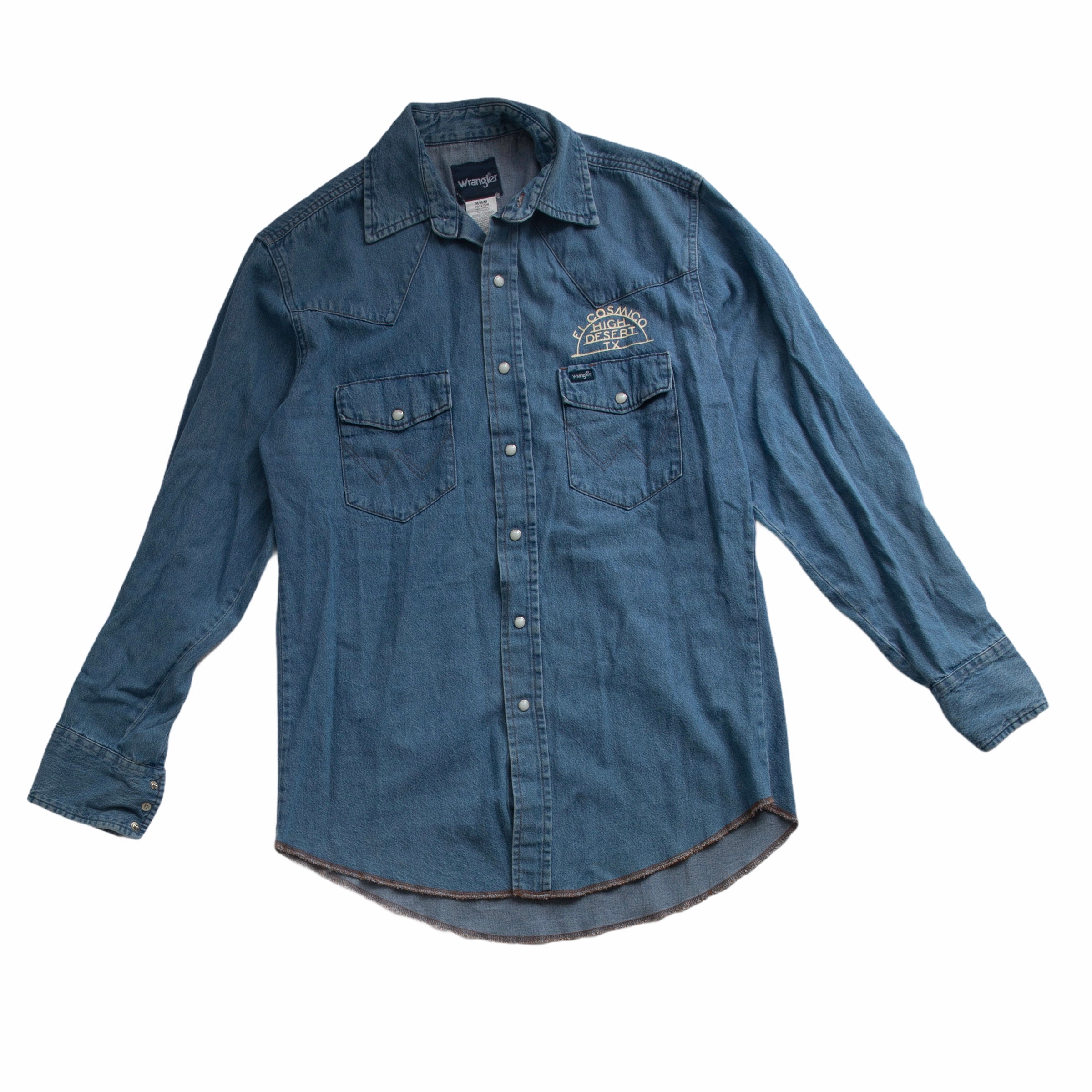 Vintage Wrangler Pearl Snap Denim Shirt 06 - Medium