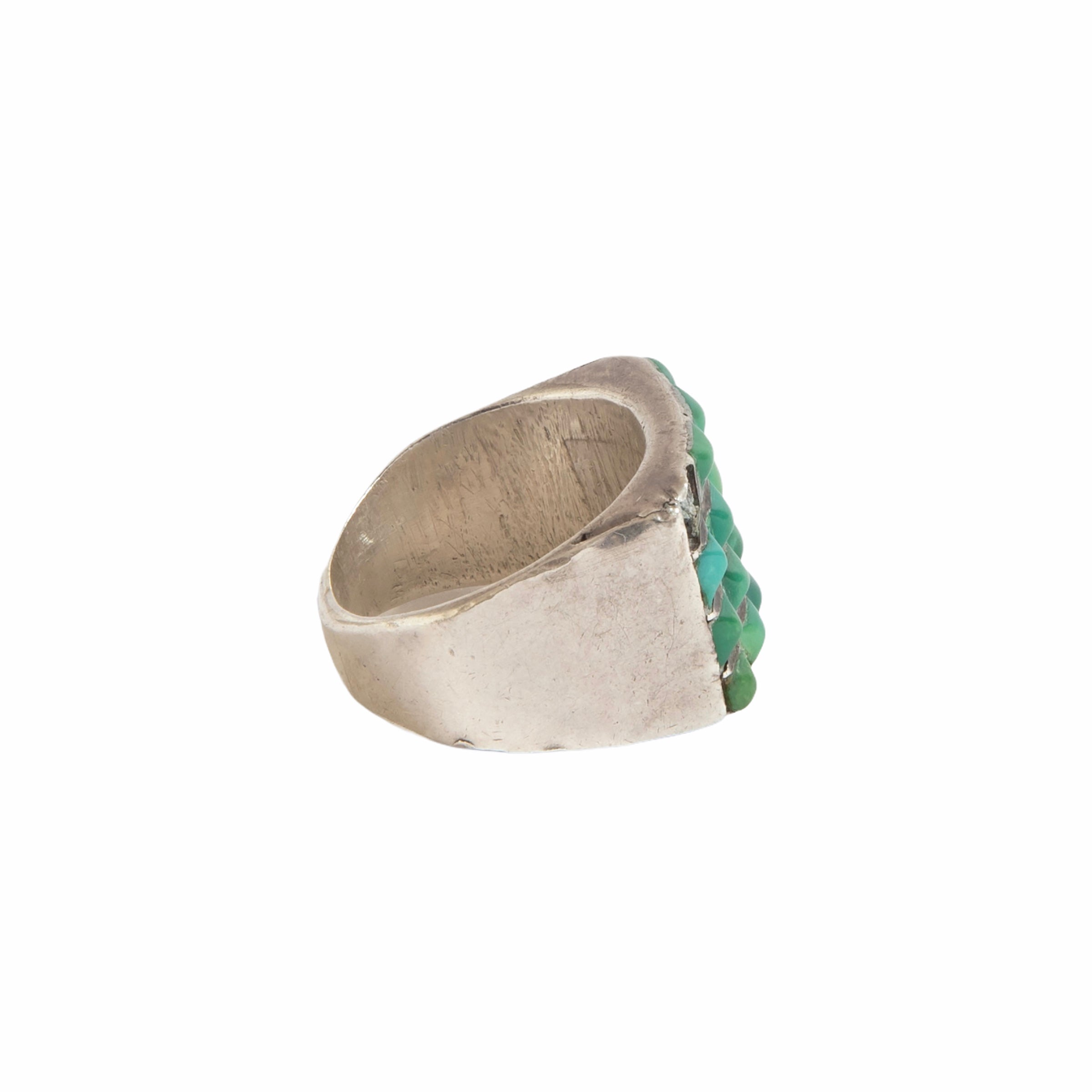 1950s Zuni Channel Cerrios Turquoise Ring 02