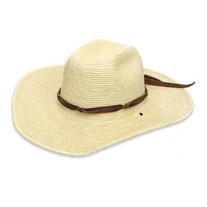 West Texas Style Palm Leaf Hat - El Cosmico Provision Company