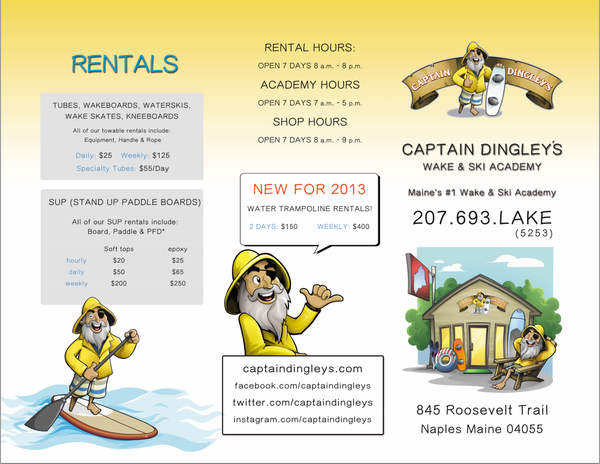watersports brochure naples maine