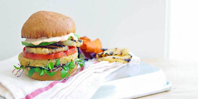 Grilled Pineapple Burger with Sriracha Mayo