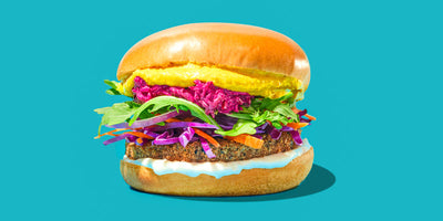 Black Rice Rainbow Burger
