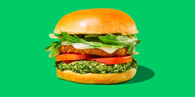 Black Bean Chimichurri Burger