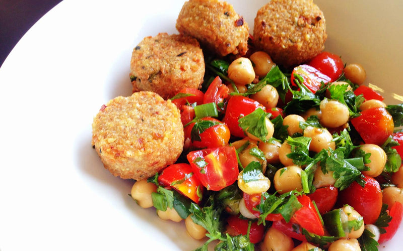 Parsley and Chickpea Salad with Veggie Bites