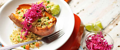 Traditional Herb Stuffed Sweet Potatoes