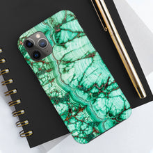 Malachite Print Tough Phone Case