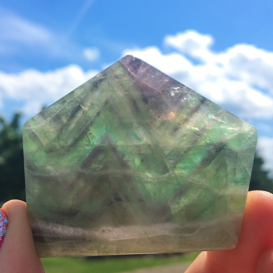 Fluorite Polished Standing Slab - The Whimsy Crystal Shop