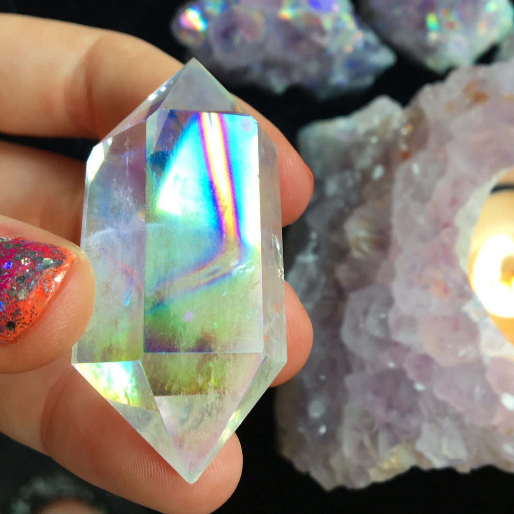 Angel Aura Quartz Wand - The Whimsy Crystal Shop