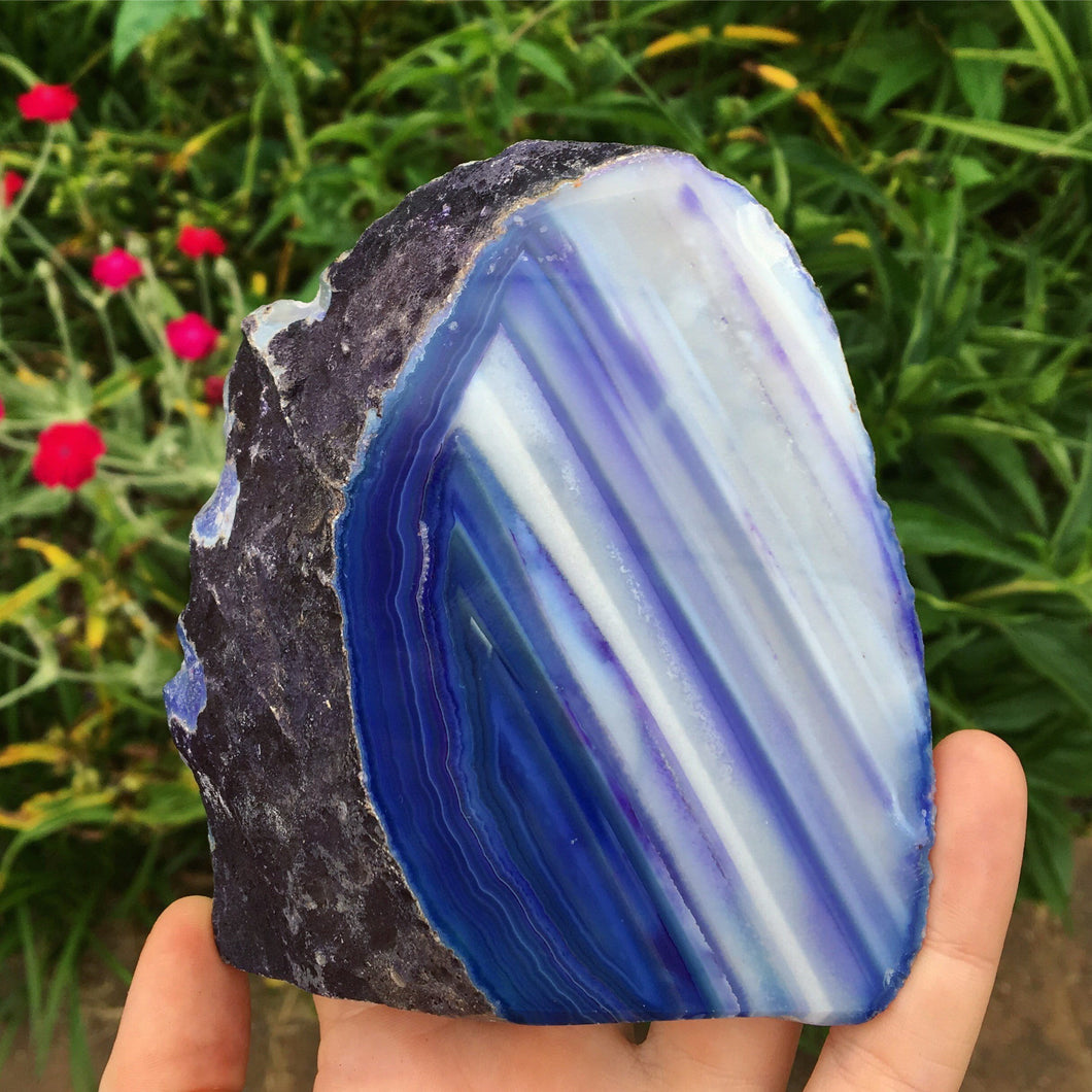 1lb Bluish Purple Agate - The Whimsy Crystal Shop